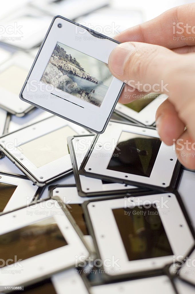 Picking a Slide royalty-free stock photo