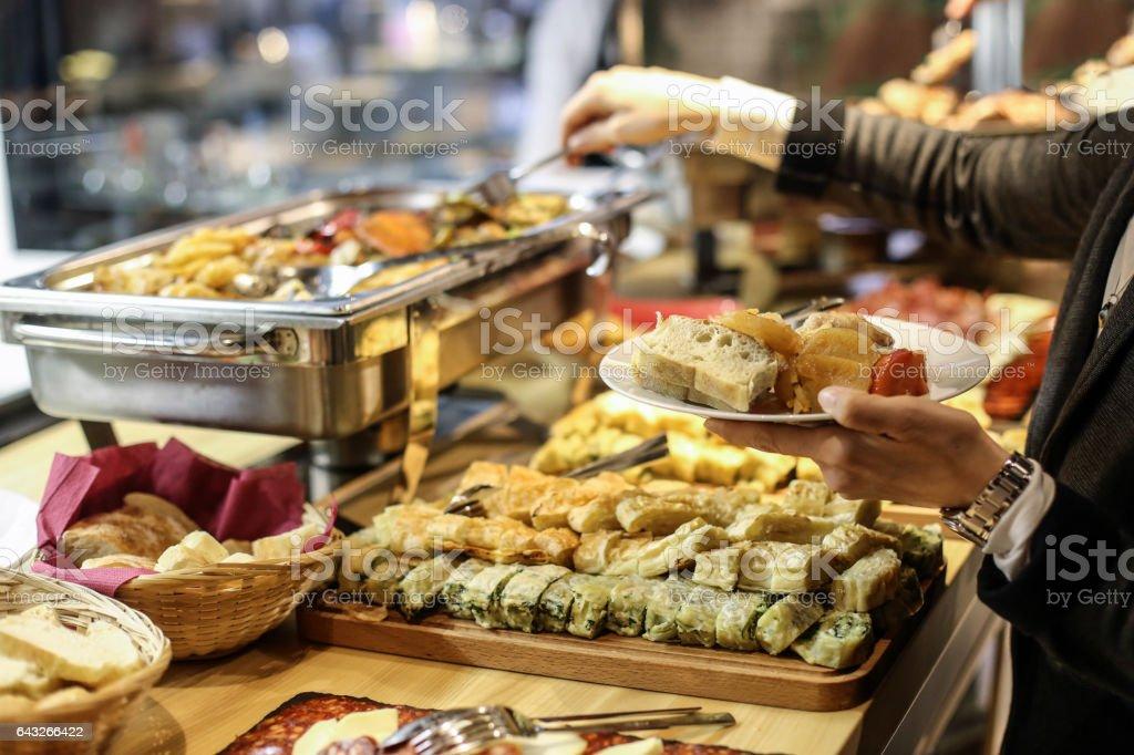 Picking food stock photo