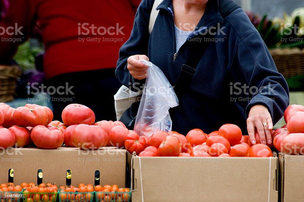 Picking fresh vegetables stock photo
