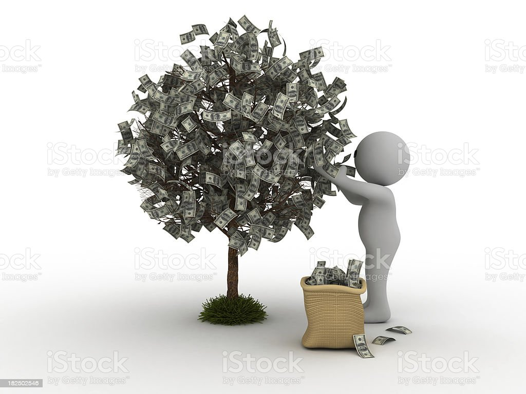 Picking Money stock photo