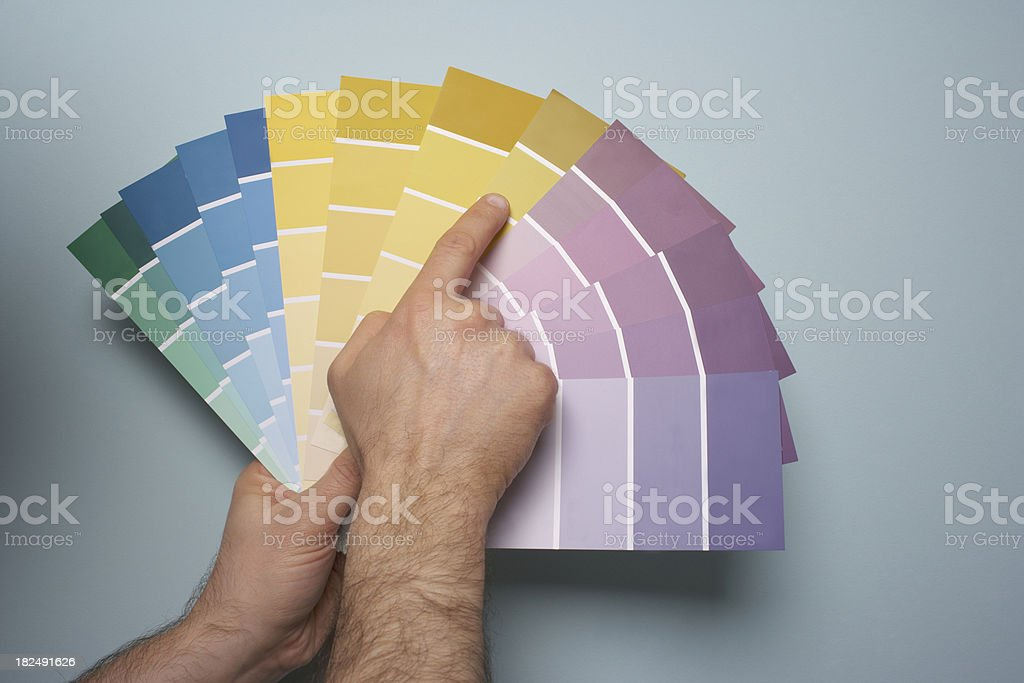 Picking Paint Color royalty-free stock photo