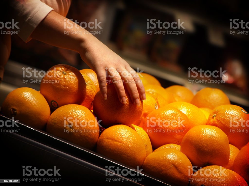 Picking the right orange royalty-free stock photo