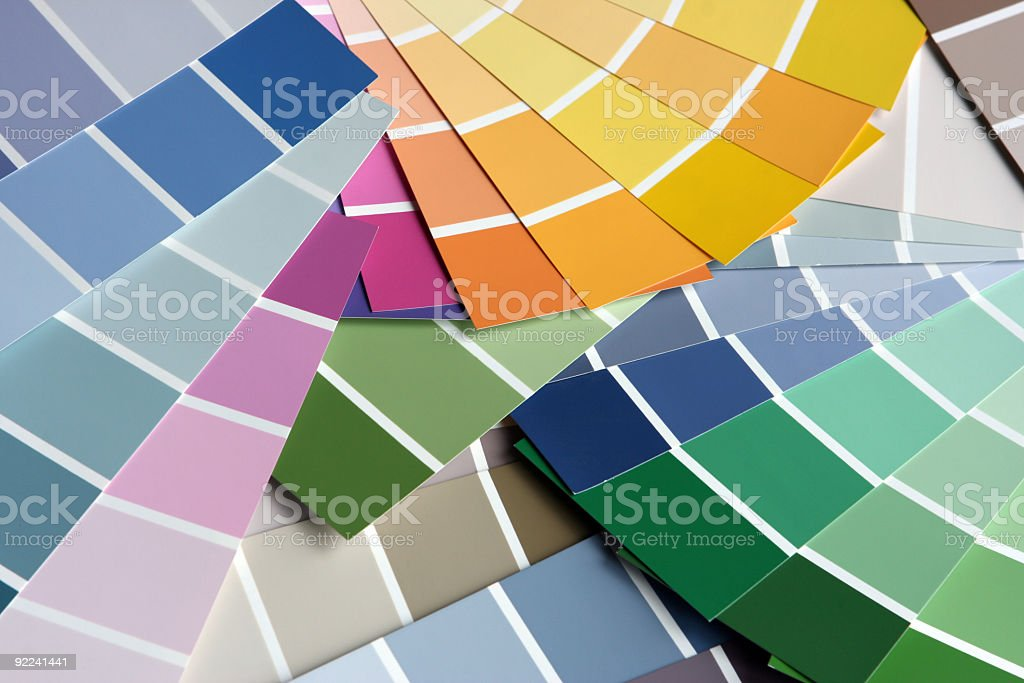 Picking the right paint Paint Sample Color Swatch stock photo