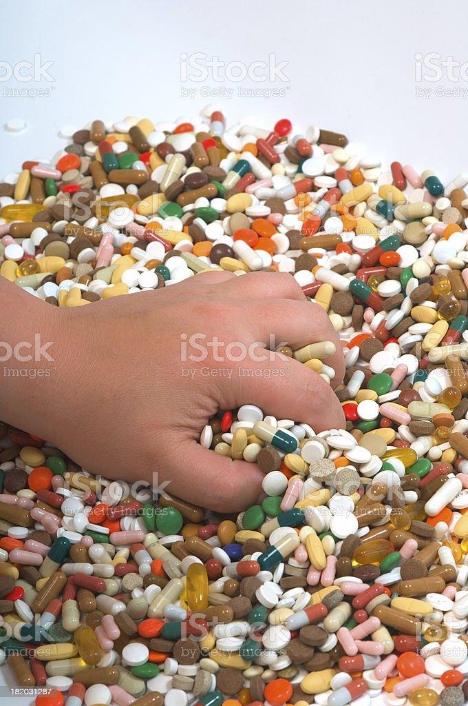 picking up drugs stock photo