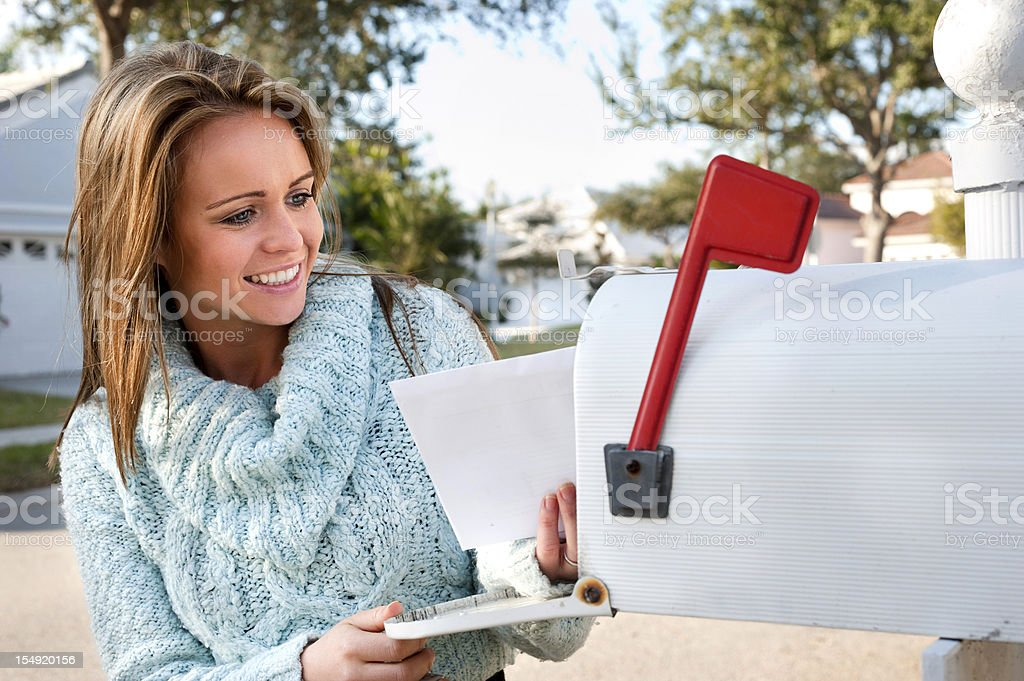 picking up the mail royalty-free stock photo
