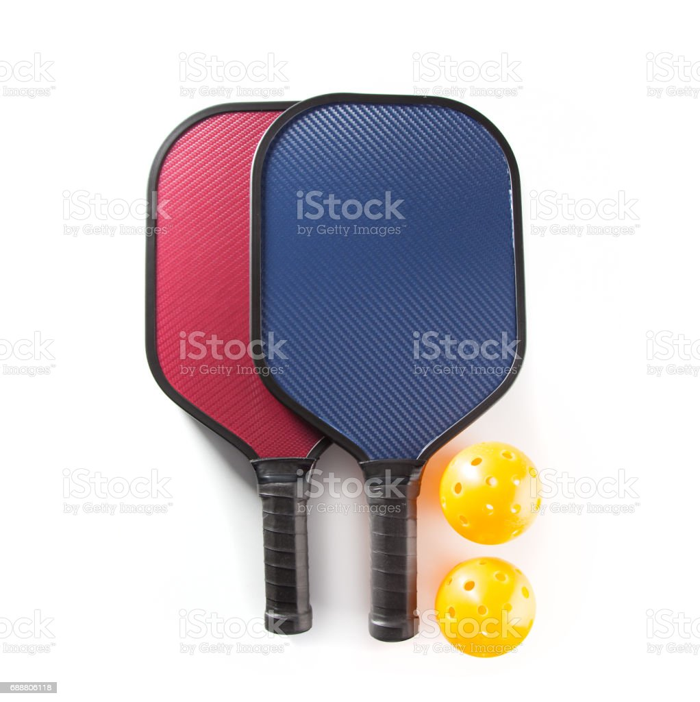 Pickle Ball Paddles stock photo