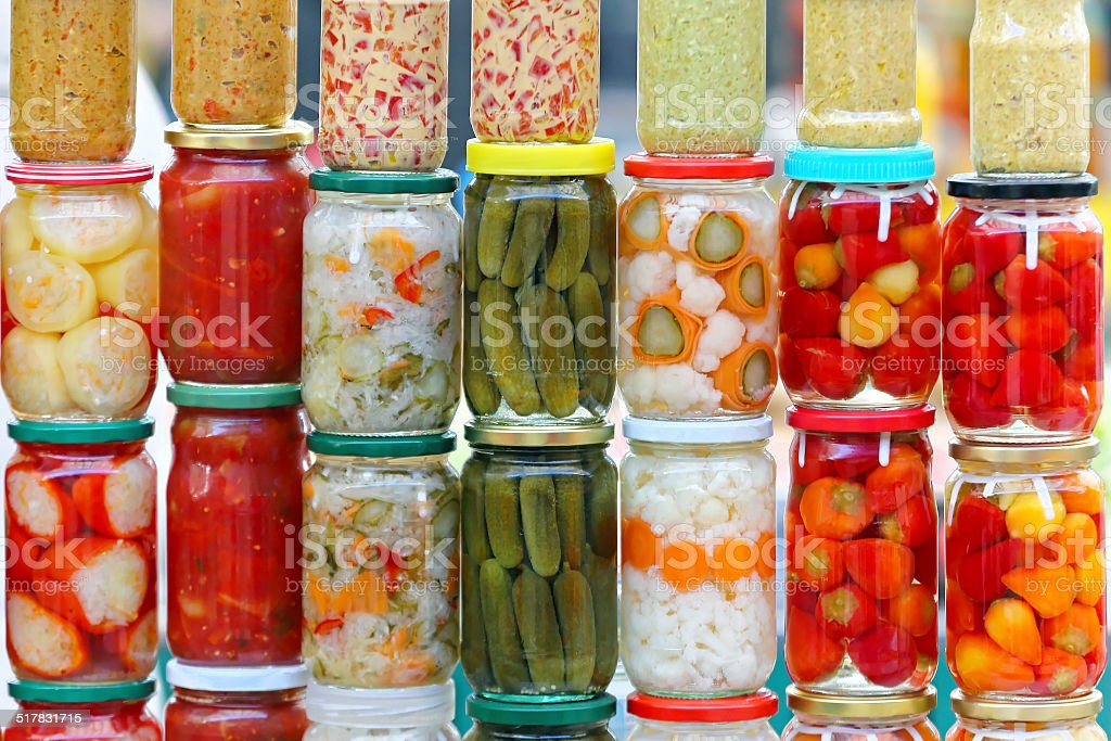 Pickle vegetables stock photo