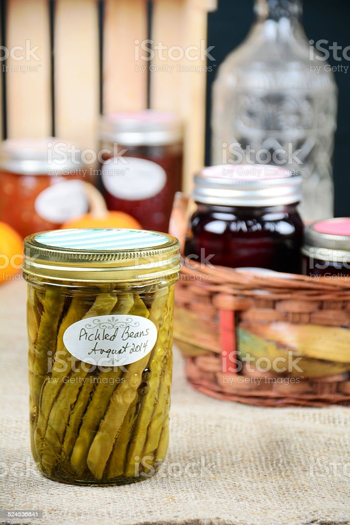 Pickled Beans stock photo