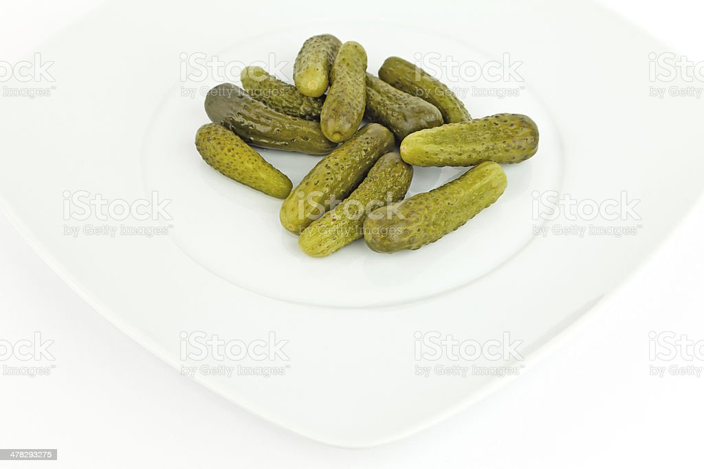 Pickled cucumbers. royalty-free stock photo