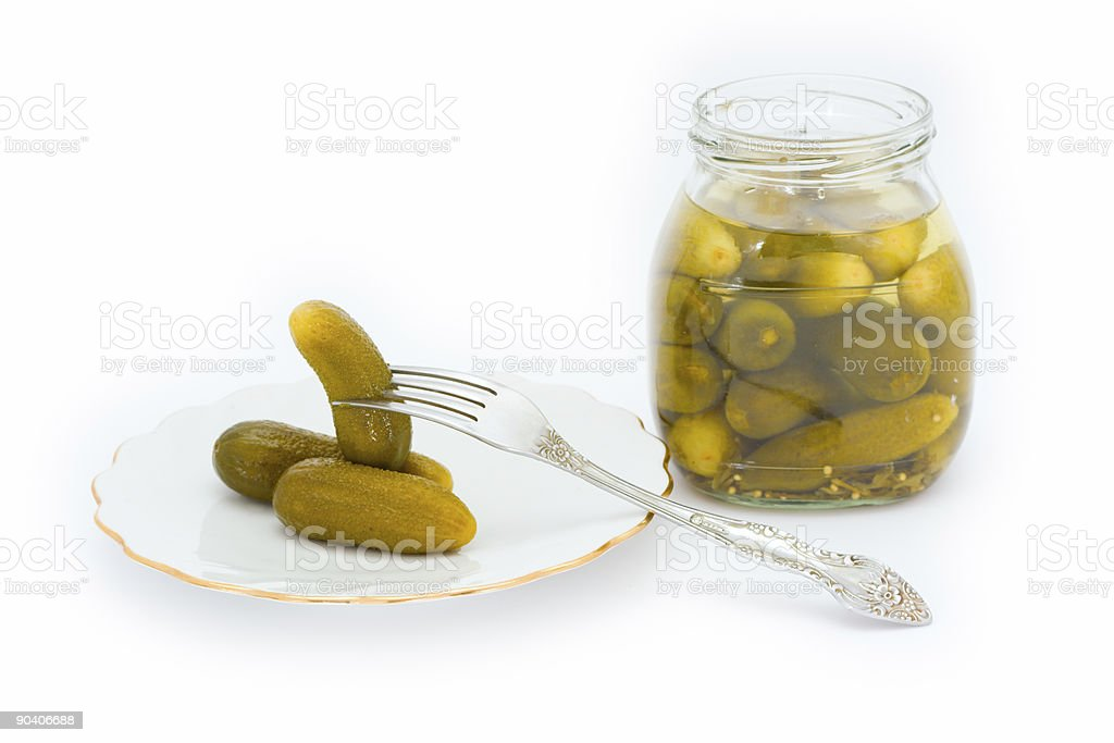 Pickled cucumbers royalty-free stock photo