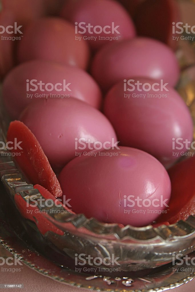 Pickled Eggs and Beets stock photo