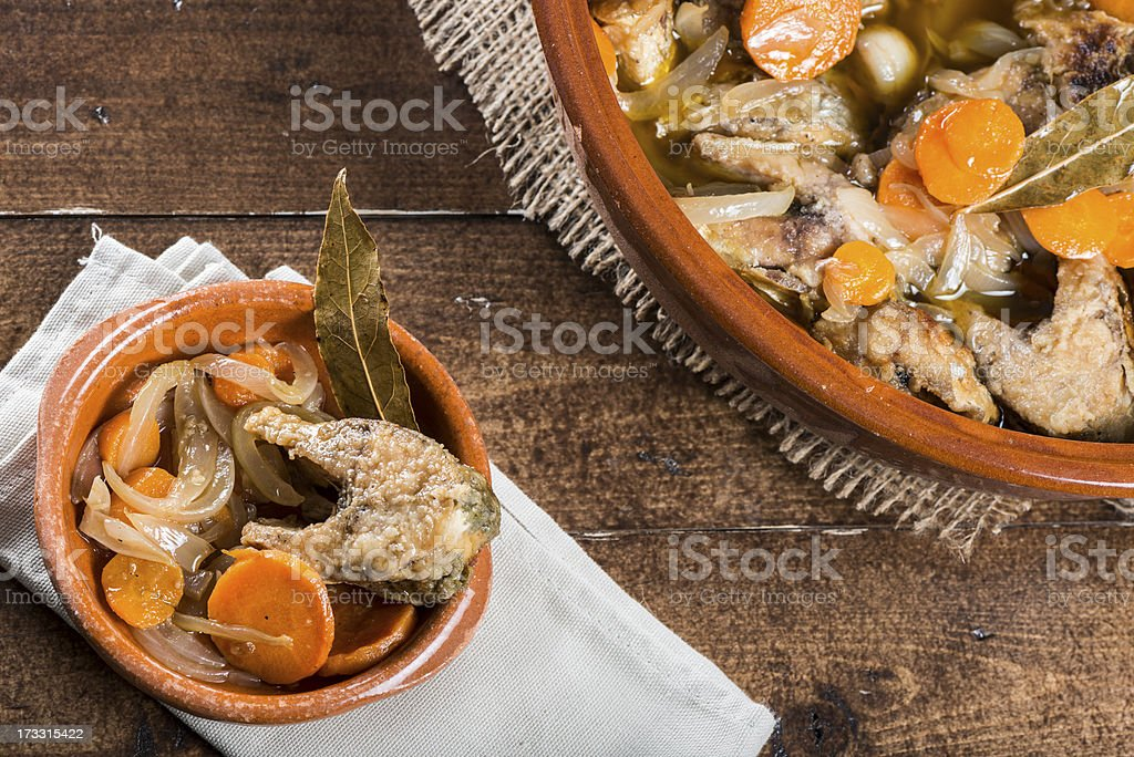 Pickled fish royalty-free stock photo