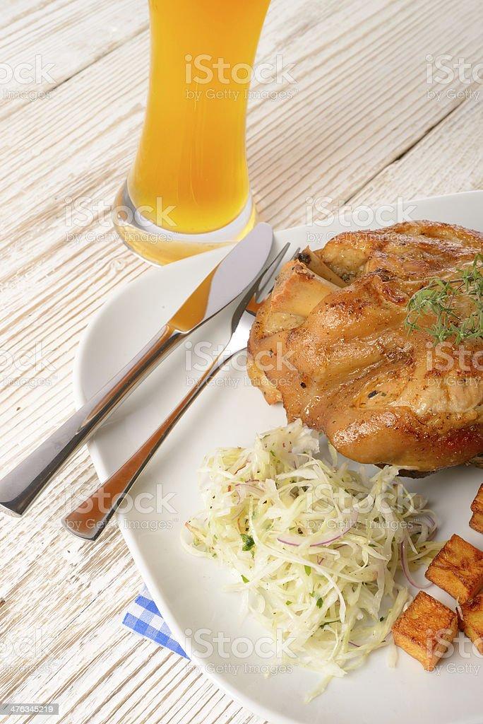 pickled ham hock royalty-free stock photo