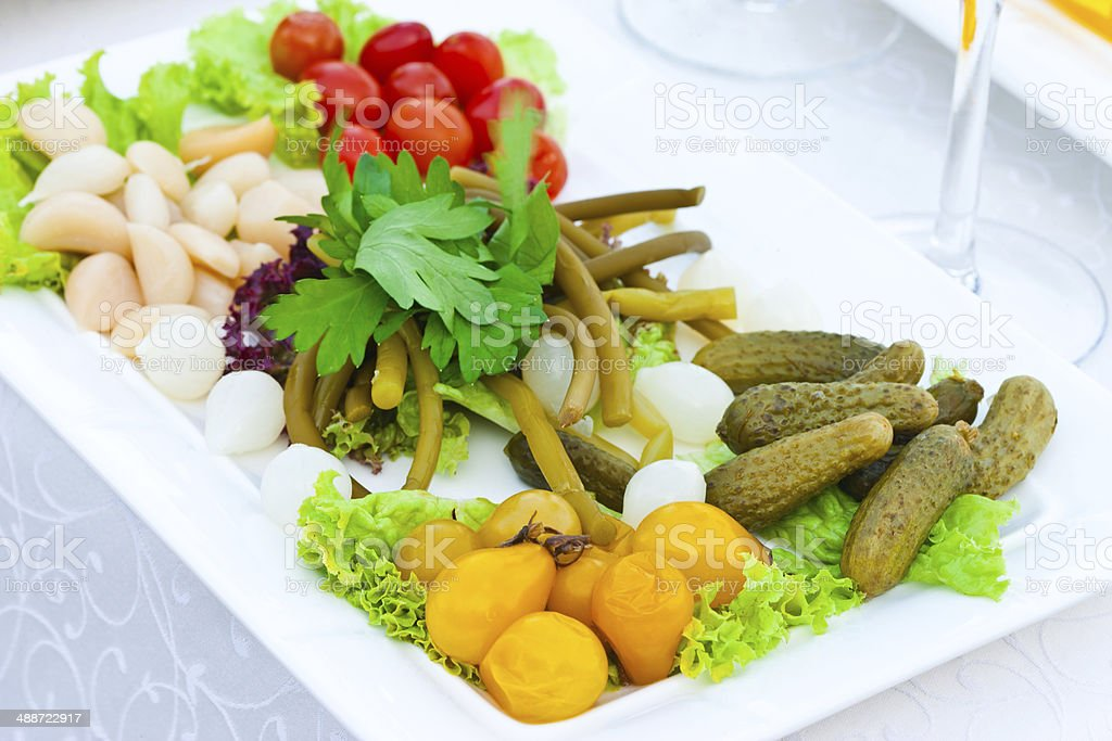 Pickled light salad royalty-free stock photo