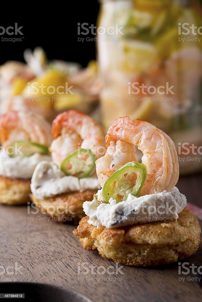 Pickled Shrimp Appetizer royalty-free stock photo
