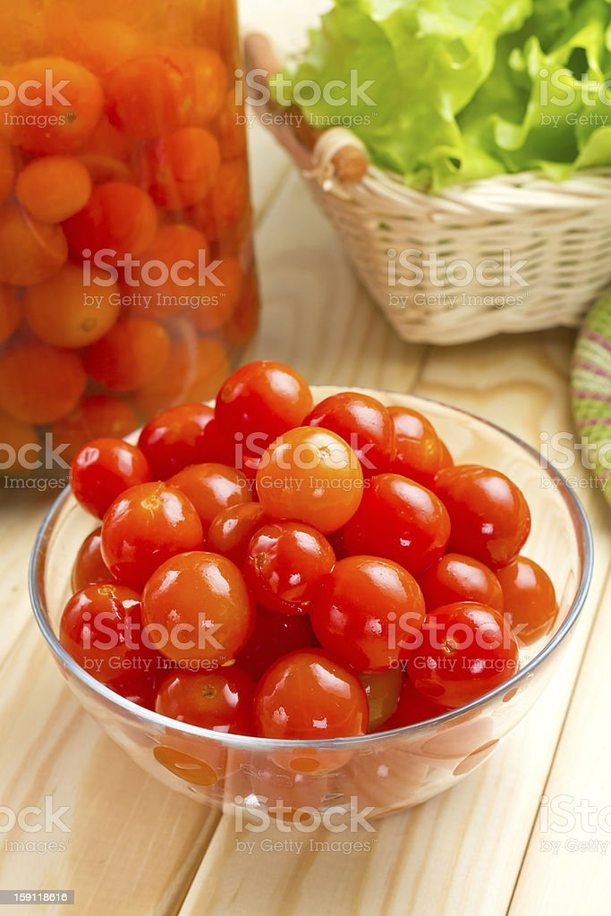 Pickled tomatoes royalty-free stock photo