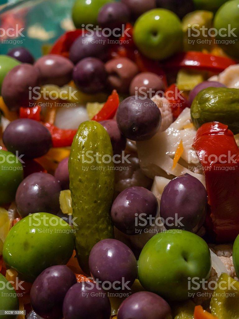 Pickled Vegetables Salad stock photo