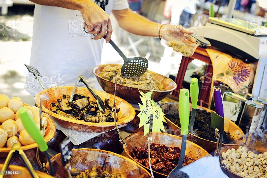 Pickled vegetables'  seller stock photo