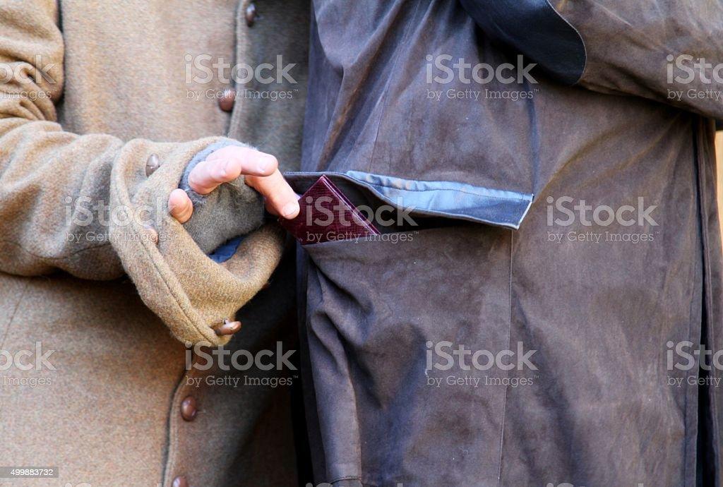 pickpocket stock photo