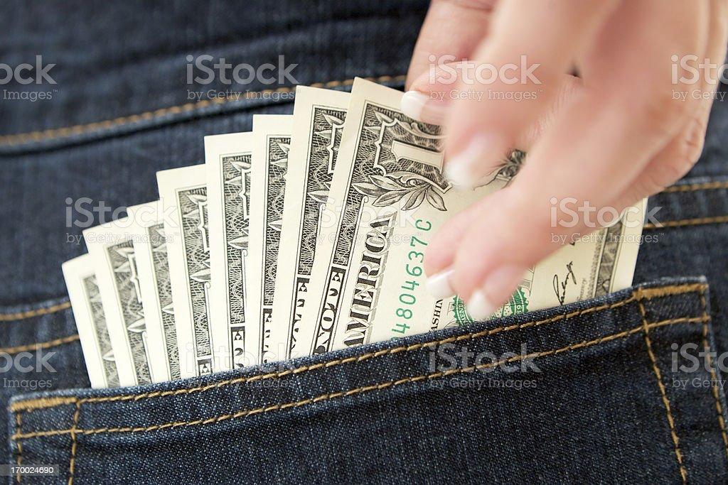 Pickpocketing royalty-free stock photo
