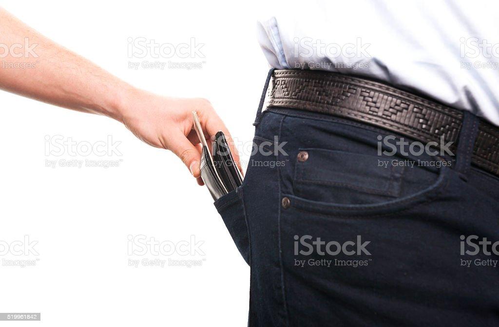 Pickpocketing stock photo