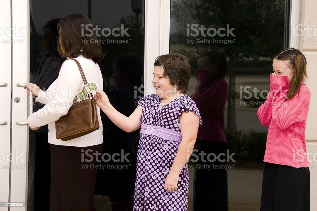 Pickpockets royalty-free stock photo