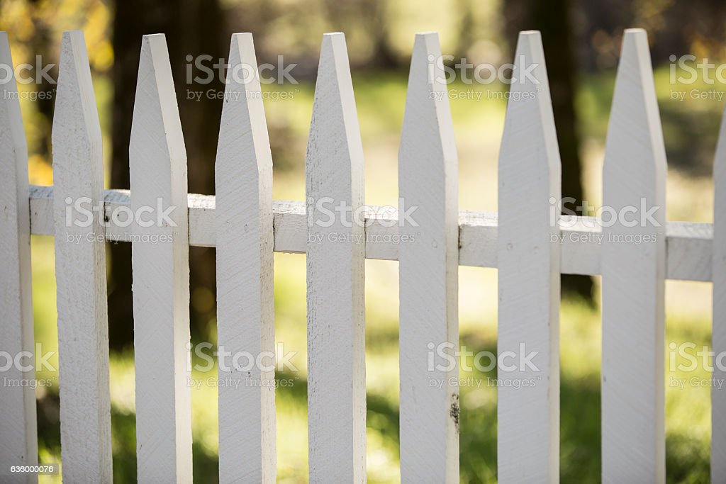 pickt fence stock photo