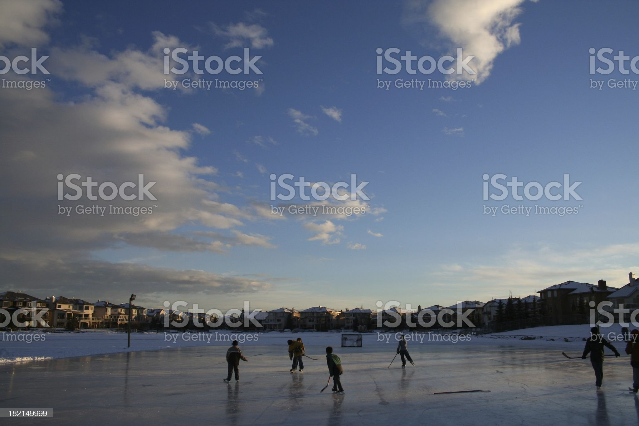 Pick-up Hockey royalty-free stock photo