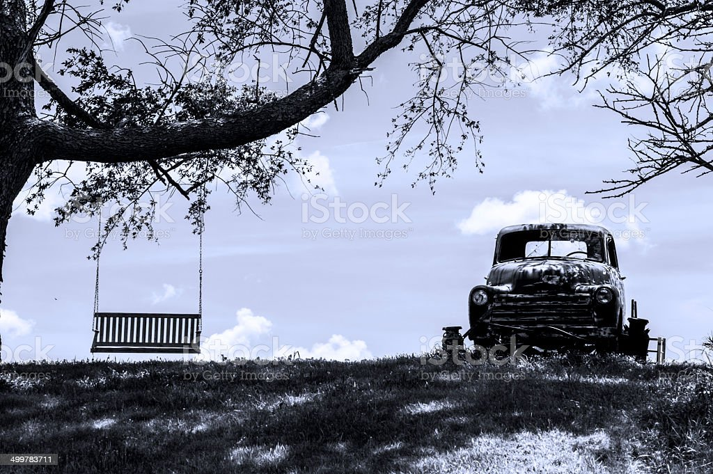 Pick-Up, Tree Swing, Summer Day royalty-free stock photo