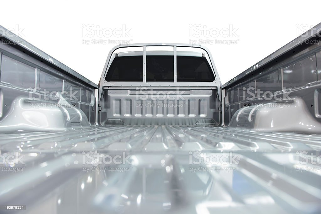 Pick-up truck bed stock photo