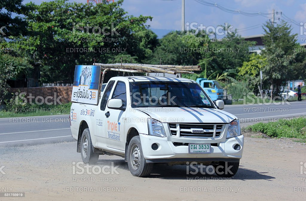 Pickup truck of Triple T Broadband company. Intenet Service in...
