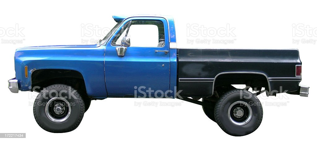 Pickup truck with clipping path royalty-free stock photo