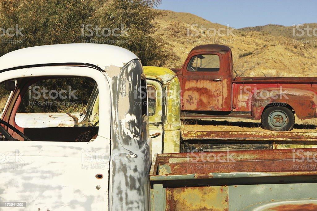 Pick-Up Trucks Route 66 stock photo