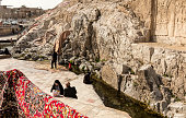 Picnic and Carpet Washing at Cheshmeh Ali Spring, Tehran, Iran