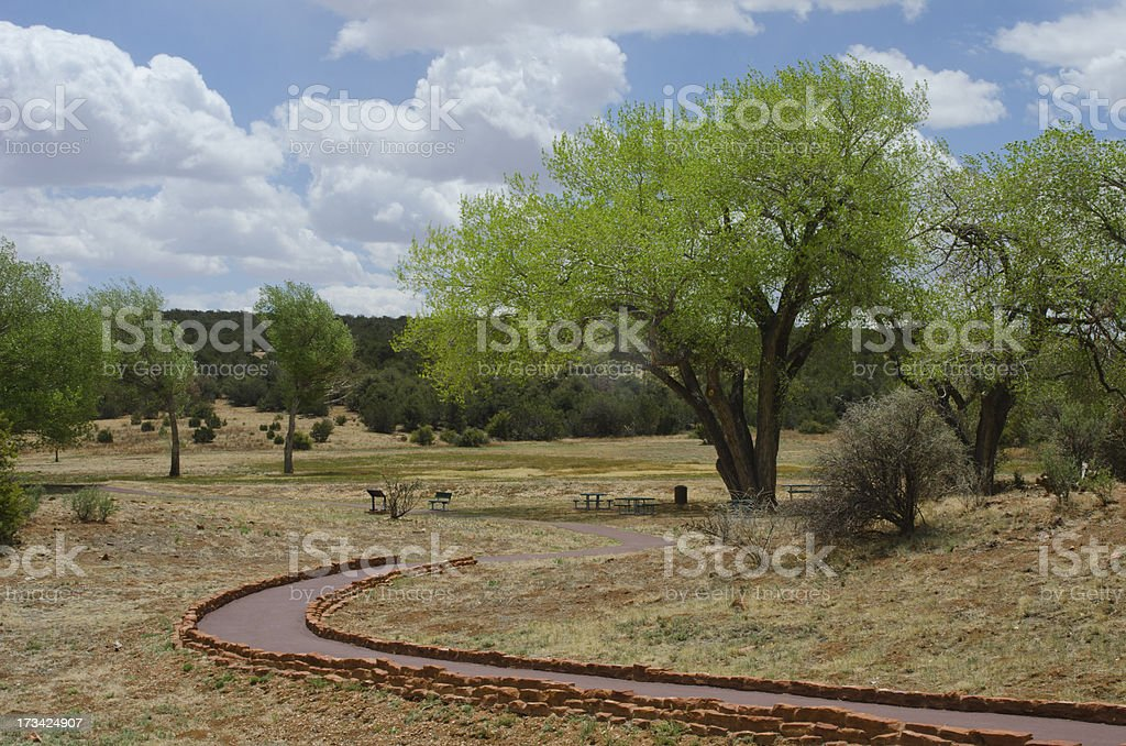 Picnic Area at Salinas Pueblo Missions National Monument stock photo