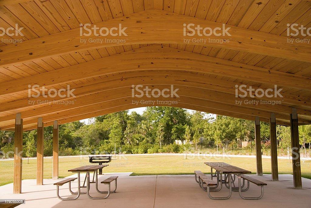 Picnic area stock photo