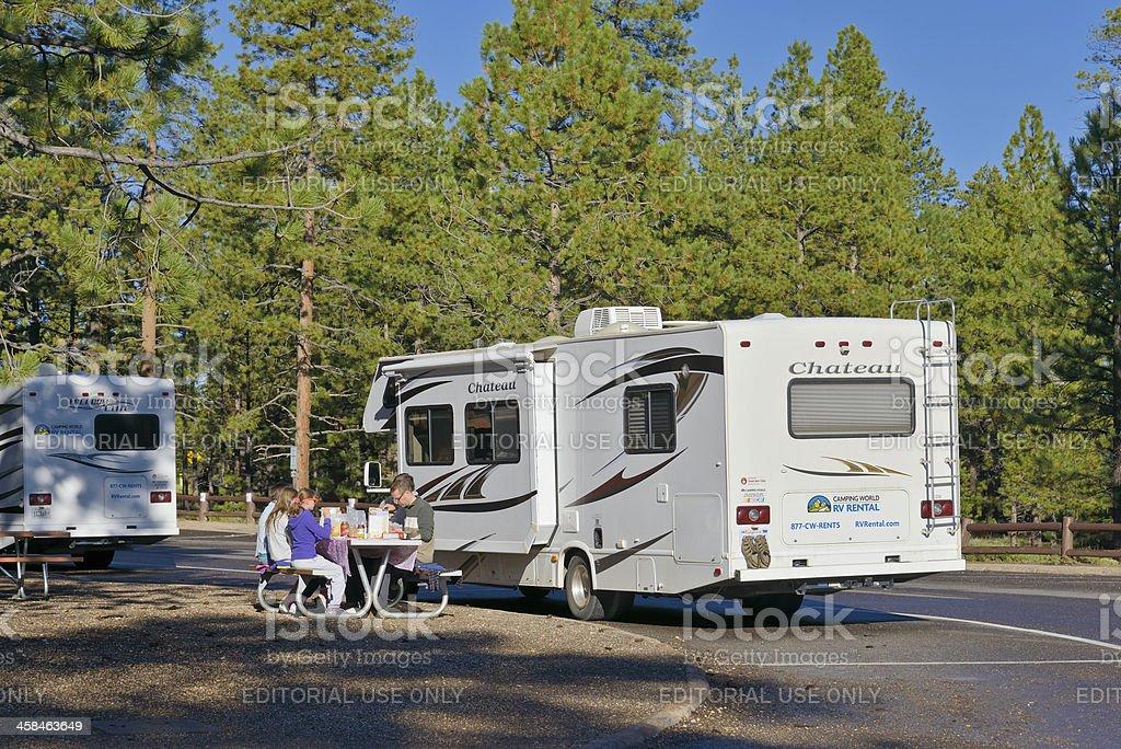 Picnic at Bryce Canyon royalty-free stock photo