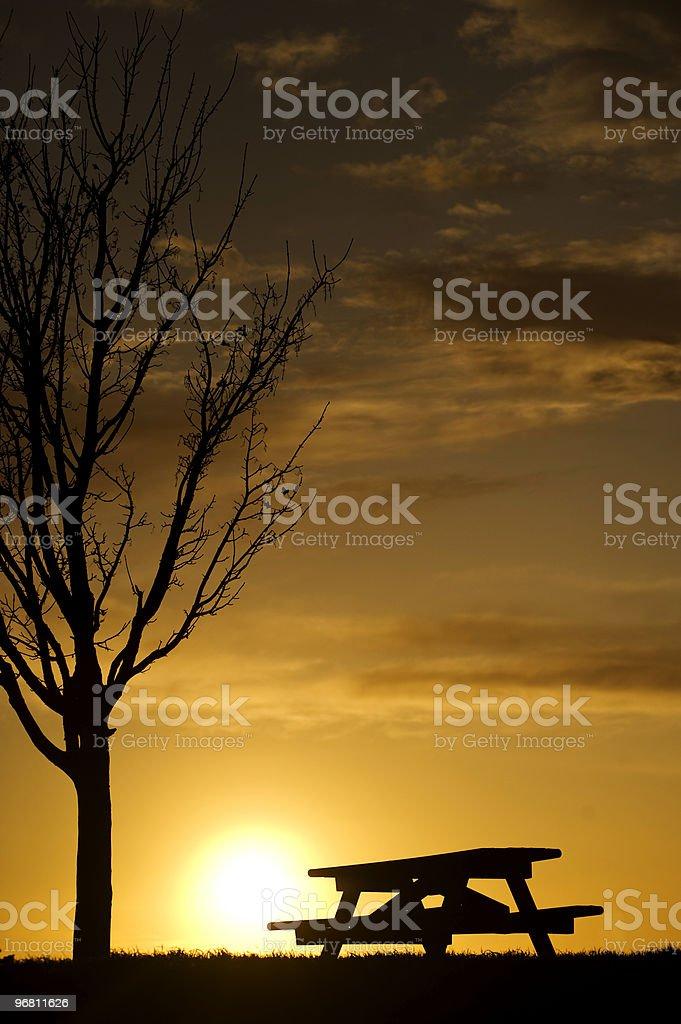 Picnic at Sunset royalty-free stock photo