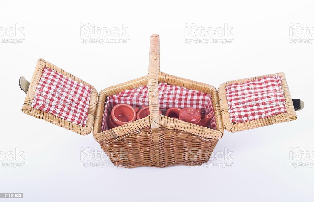 Picnic Basket royalty-free stock photo