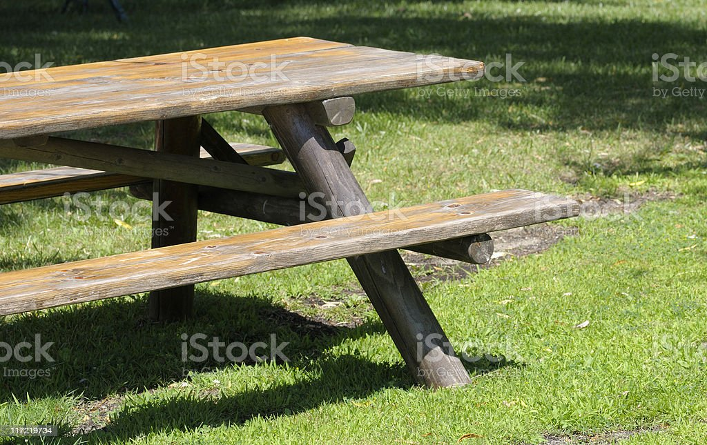 Picnic Bench royalty-free stock photo