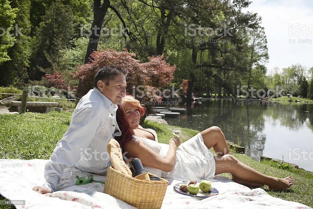Picnic by the Lake royalty-free stock photo