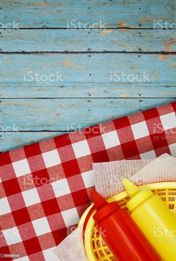 Picnic condiments royalty-free stock photo