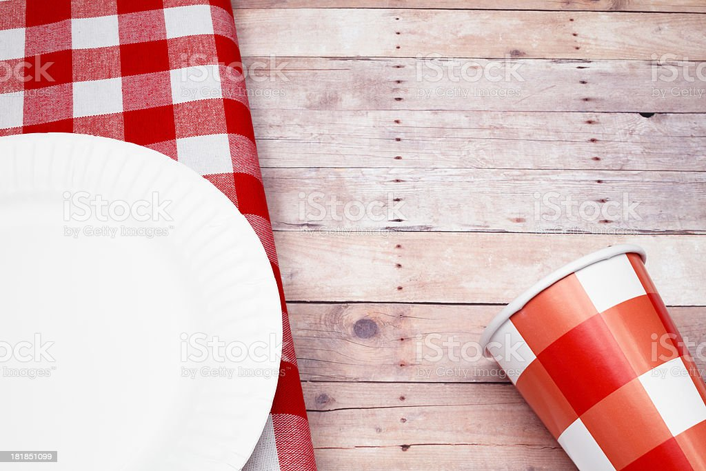 Picnic Cup and Napkin stock photo