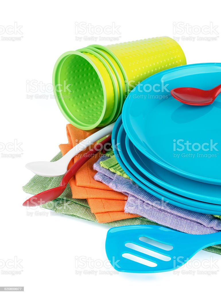 Picnic Dishware stock photo