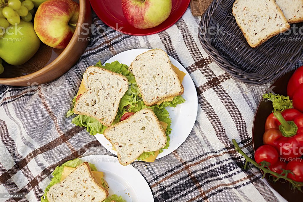 Picnic food stock photo