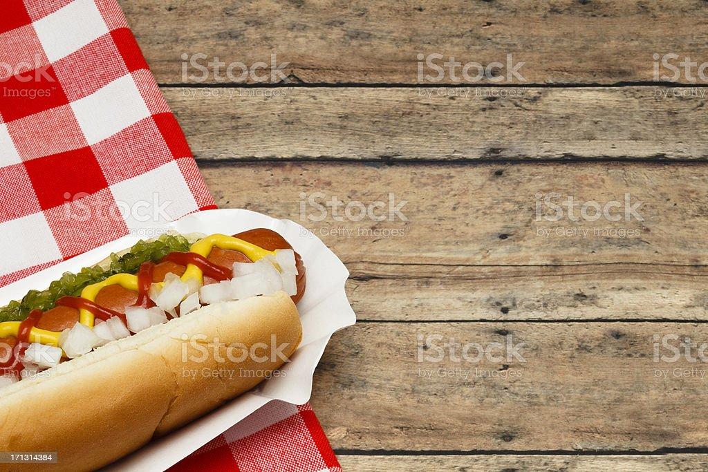 Picnic Hotdog stock photo