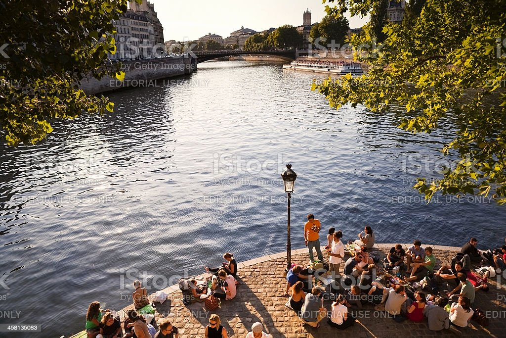 Picnic in Paris stock photo