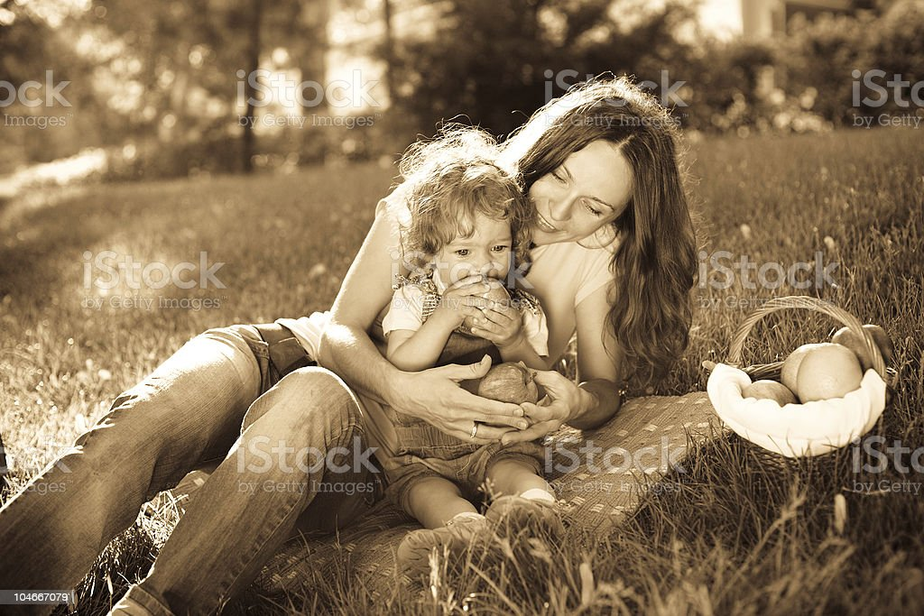 Picnic in park royalty-free stock photo