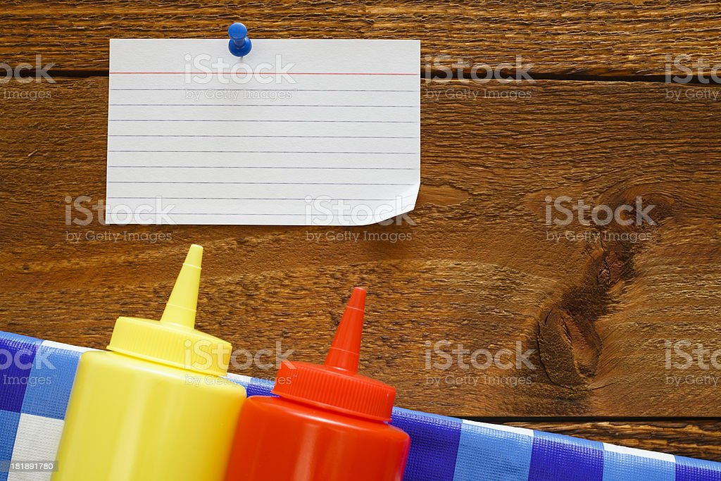 Picnic Notes royalty-free stock photo