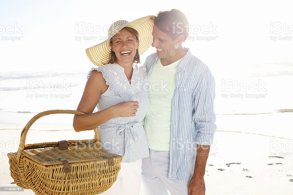 Picnic on the beach! royalty-free stock photo